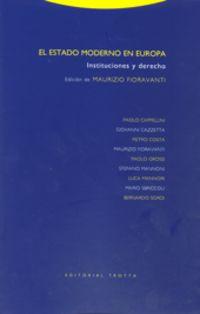 El estado moderno en europa - Maurizio Fioravanti