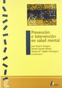 PREVENCION E INTERVENCION EN SALUD MENTAL