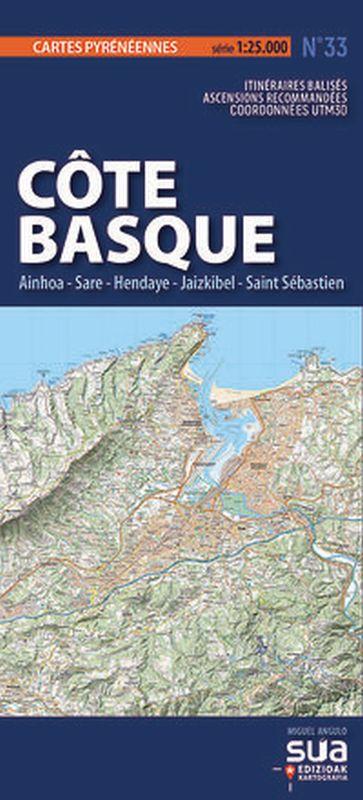 COTE BASQUE. AINHOA-SARE-HENDAYE, JAIZKIBEL-SAINT SEBASTIAN - CARTES PYRENEENNES (1: 25000)