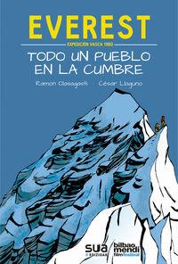 EVEREST, EXPEDICION VASCA 1980 - TODO UN PUEBLO EN LA CUMBRE