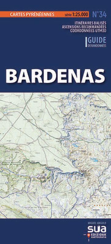bardenas - cartes pyreneennes (1: 25000) - Miguel Angulo