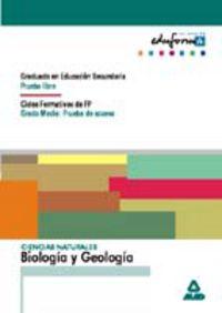 ACCESO CFGM / GES - BIOLOGIA Y GEOLOGIA - PRUEBA LIBRE