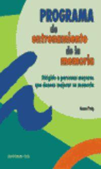 PROGRAMA DE ENTRENAMIENTO DE LA MEMORIA - DIRIGIDO A PERSONAS MAYORES
