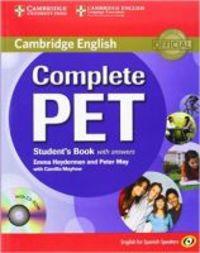 COMPLETE PET W / KEY (+CD-ROM) (SPANISH ED)