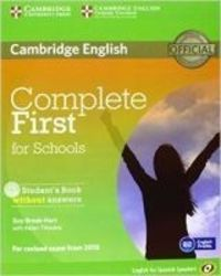 COMPLETE FIRST FOR SCHOOLS (+CD) (SPANISH ED)