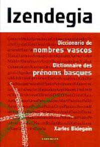 IZENDEGIA - DICC. NOMBRES VASCOS - DICTIONAIRE PRENOMS BASQUES