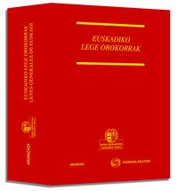 LEYES GENERALES DE EUSKADI = EUSKADIKO LEGE OROKORRAK