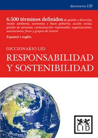 Diccio. Responsabilidad Y Sostenibilidad - Corredera. J.  /  M.  Gonzalez