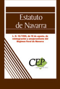 Estatuto De Navarra - Aa. Vv.