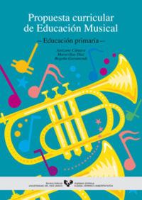 EDUCACION MUSICAL, EDUCACION PRIMARIA - PROPUESTA CURRICULAR