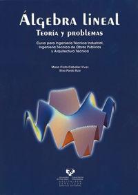 ALGEBRA LINEAL - TEORIA Y PROBLEMAS