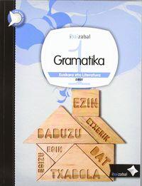 DBH 1 - EUSKARA ETA LITERATURA - GRAMATIKA - I. BAI. BERRI