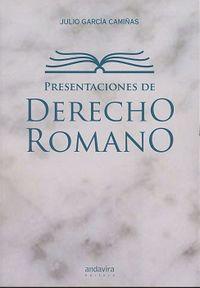 PRESENTACIONES DE DERECHO ROMANO