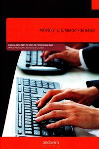 Grabacion De Datos - Mf0973_1 - Aa. Vv.