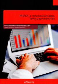 Tratamiento De Datos, Textos Y Documentacion - Mf0974_1 - Aa. Vv.