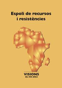 ESPOLI DELS RECURSOS I RESISTENCIES