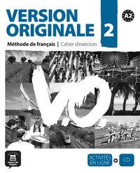 VERSION ORIGINALE 2 (A2) CAHIER (+CD)