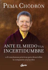 ANTE EL MIEDO Y LA INCERTIDUMBRE - 108 ENSEÑANZAS PRACTICAS PARA DESARROLLAR LA COMPASION Y LA LUCIDEZ
