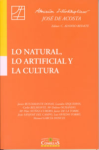 LO NATURAL, LO ARTIFICIAL Y LA CULTURA