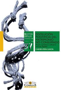 DISOLUCION PONTIFICIA DEL MATRIMONIO NO CONSUMADO - PRAXIS