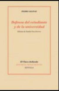 Defensa Del Estudiante Y De La Universidad - Pedro Salinas