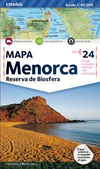 Mapa Menorca - Aa. Vv.