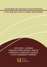ANALISIS DE DATOS CUALITATIVOS CON AQUAD CINCO PARA WINDOWS
