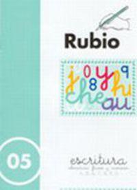 CUADERNOS ESCRITURA 05. RUBIO