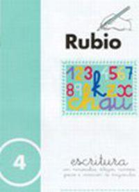 CUADERNOS ESCRITURA 4. RUBIO