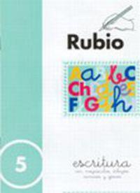 CUADERNOS ESCRITURA 5. RUBIO