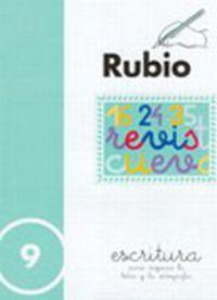 CUADERNOS ESCRITURA 9. RUBIO