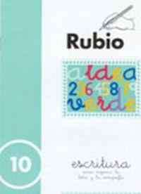 CUADERNOS ESCRITURA 10. RUBIO