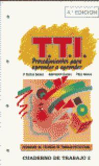 PROGRAMA DE TECNICAS DE TRABAJO INTELECTUAL - CUADERNO DE TRABAJO II