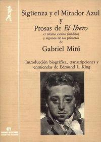Siguenza Y El Mirador Azul - Gabriel Miro
