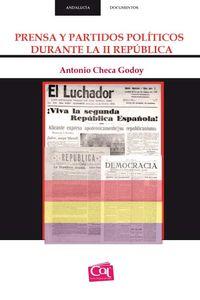 PRENSA Y PARTIDOS POLITICOS DURANTE LA II REPUBLICA