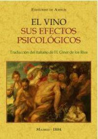 VINO, EL - SUS EFECTOS PSICOLOGICOS