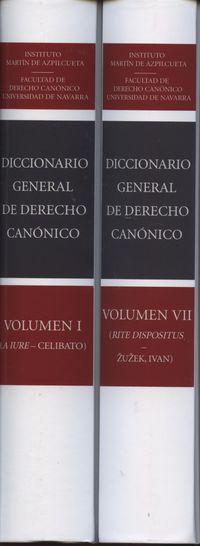 (7 VOLS. ) DICC. GENERAL DE DERECHO CANONICO - OBRA COMPLETA