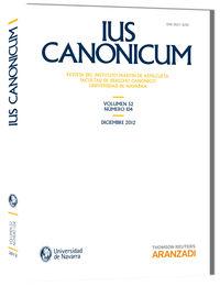 IUS CANONICUM - VOL. 52, Nº 104 - 2012