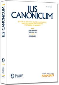 IUS CANONICUM - VOL. 53, Nº 105 - 2013