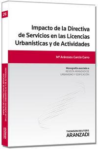 IMPACTO DE LA DIRECTIVA DE SERVICIOS EN LAS LICENCIAS URBANISTICAS Y DE ACTIVIDADES