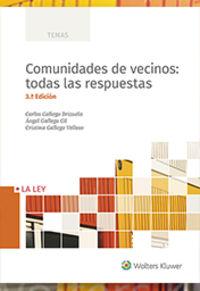 (3 ED. ) COMUNIDADES DE VECINOS - TODAS LAS RESPUESTAS
