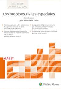 PROCESOS CIVILES ESPECIALES, LOS