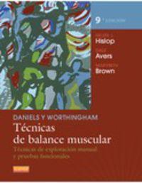 DANIELS & WORTHINGHAM - TECNICAS DE BALANCE MUSCULAR - TECN