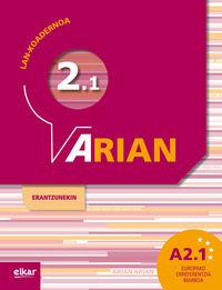 ARIAN A2.1 - LAN-KOADERNOA (+ERANTZUNAK)