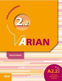 ARIAN A2.2 - LAN-KOADERNOA (+ERANTZUNAK)