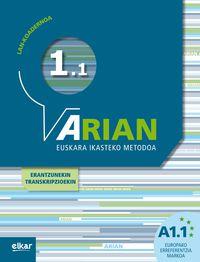 ARIAN A1.1 - LAN-KOADERNOA (+ERANTZUNAK)