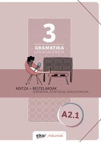 GRAMATIKA LAN-KOADERNOA 3 (A2.1) ADITZA + BESTELAKOAK