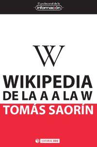 Wikipedia De La A A La W - Tomas Saorin Perez