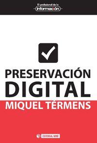 Preservacion Digital - Miquel Termens