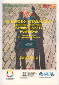 XII SIMPOSIO INTERNACIONAL CONSERVACION PATRIMONIO DE LA HUMANIDAD